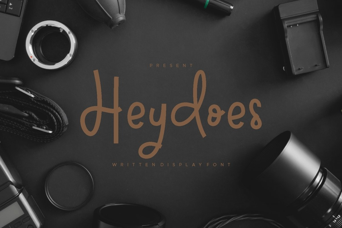 Heydoes - Handwritten Display Font example image 1