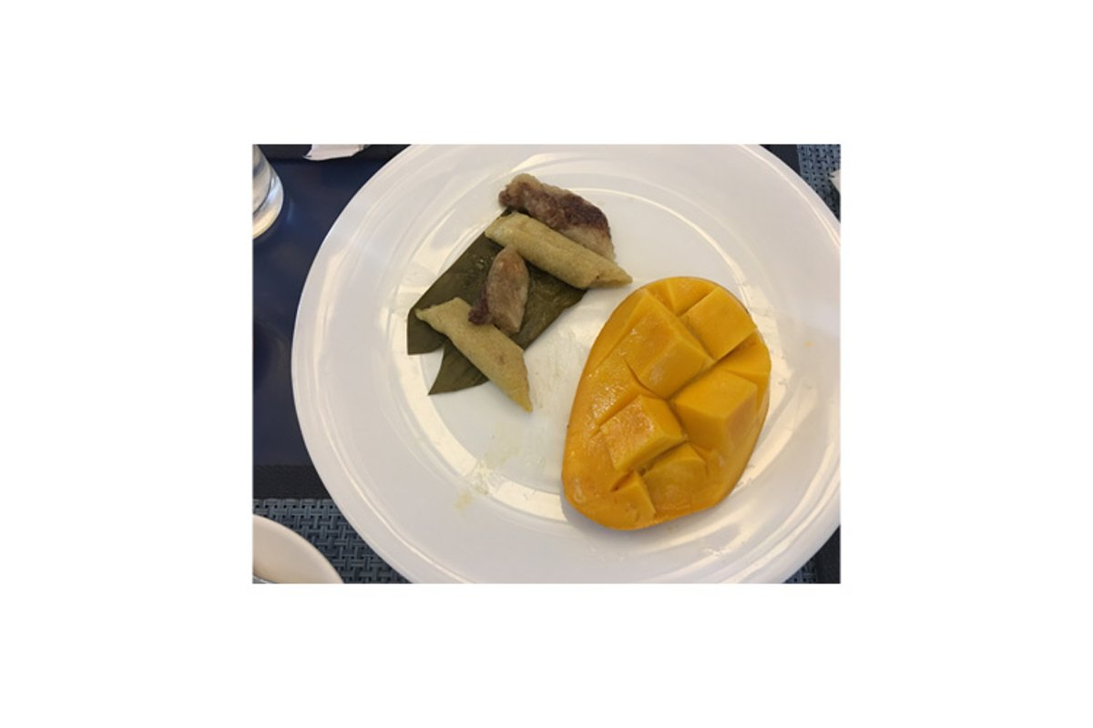 Suman or Filipino Rice Cake with Mango Slices example image 1