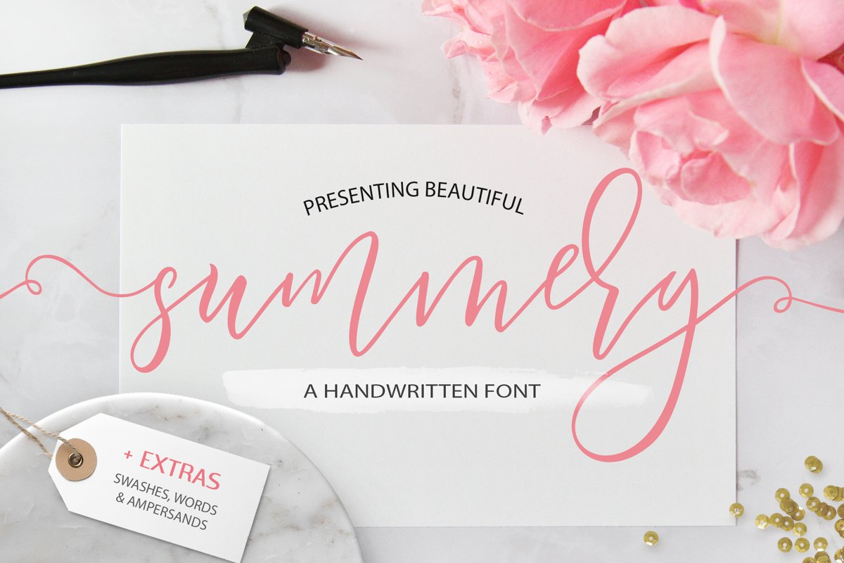 Summery Handwritten Calligraphy Font example image 1