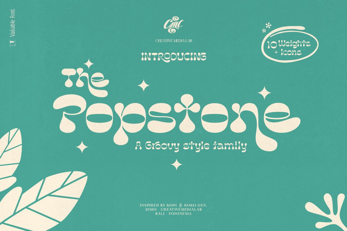 Popstone - Groovy Variable Font example image 1