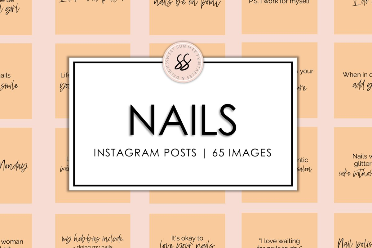 Nails Peach Instagram Posts example image 1