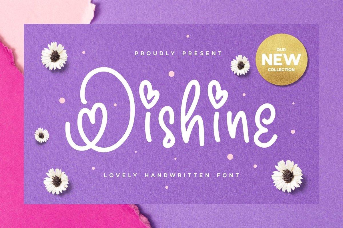 Oishine - Lovely Handwritten Font example image 1