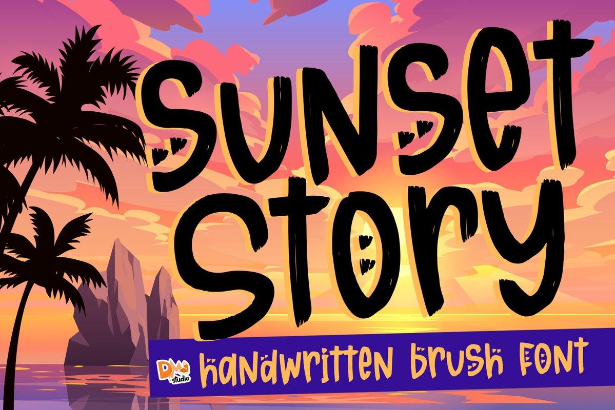 Sunset Story - Handwritten Font example image 1