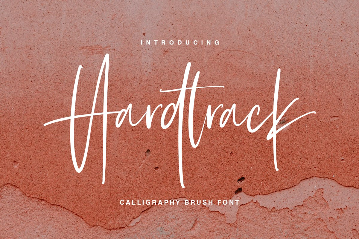 Hardtrack - Calligraphy Brush Font example image 1