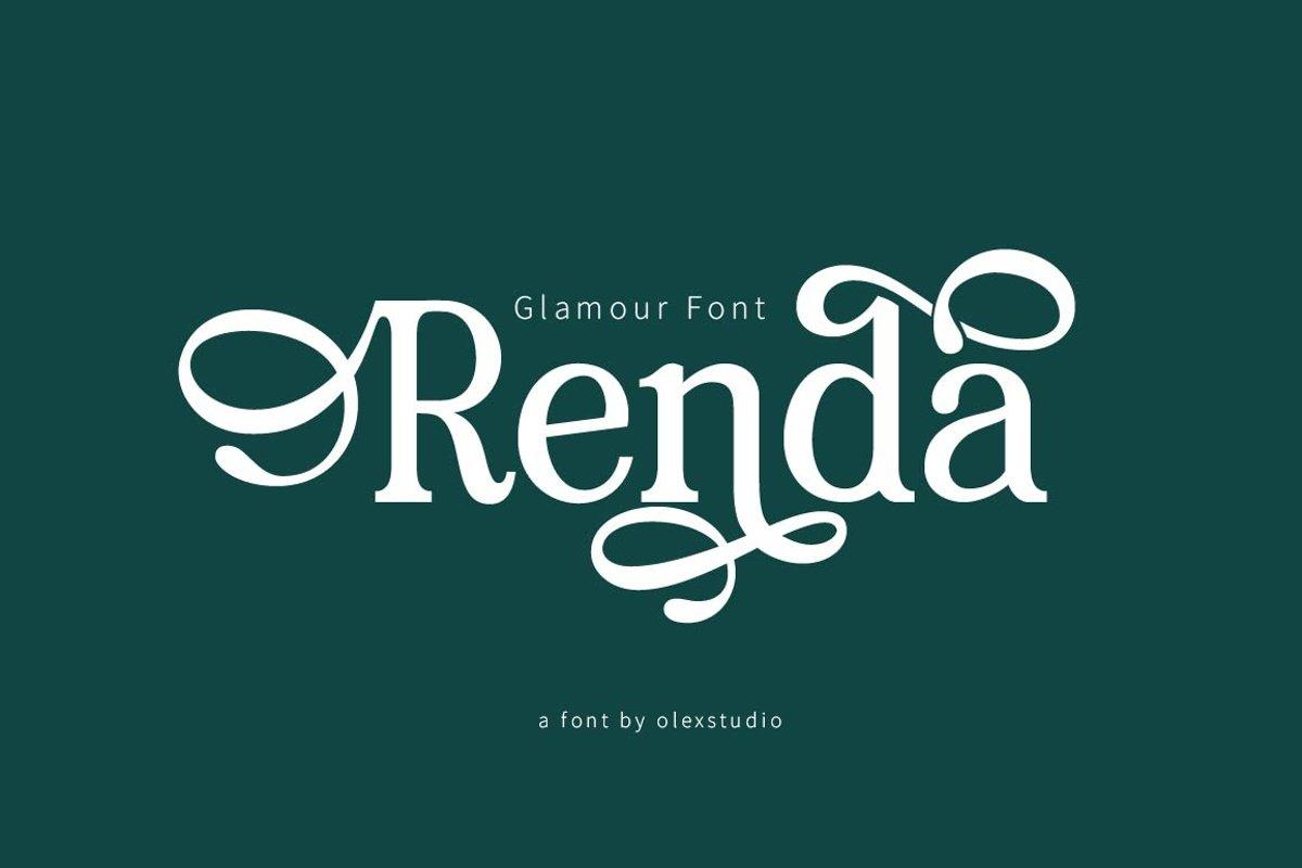 RENDA - Serif example image 1