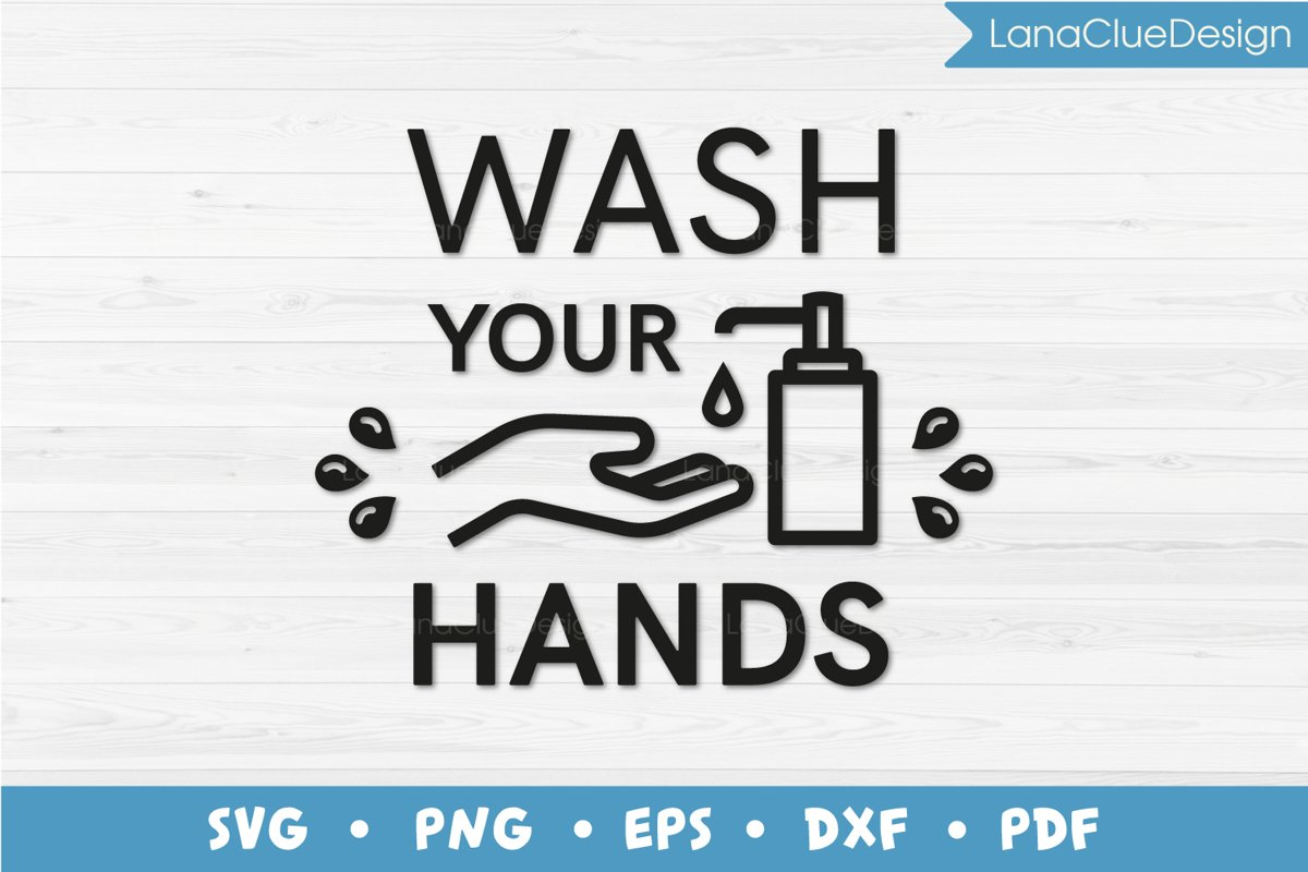 Wash Your Hands SVG example image 1
