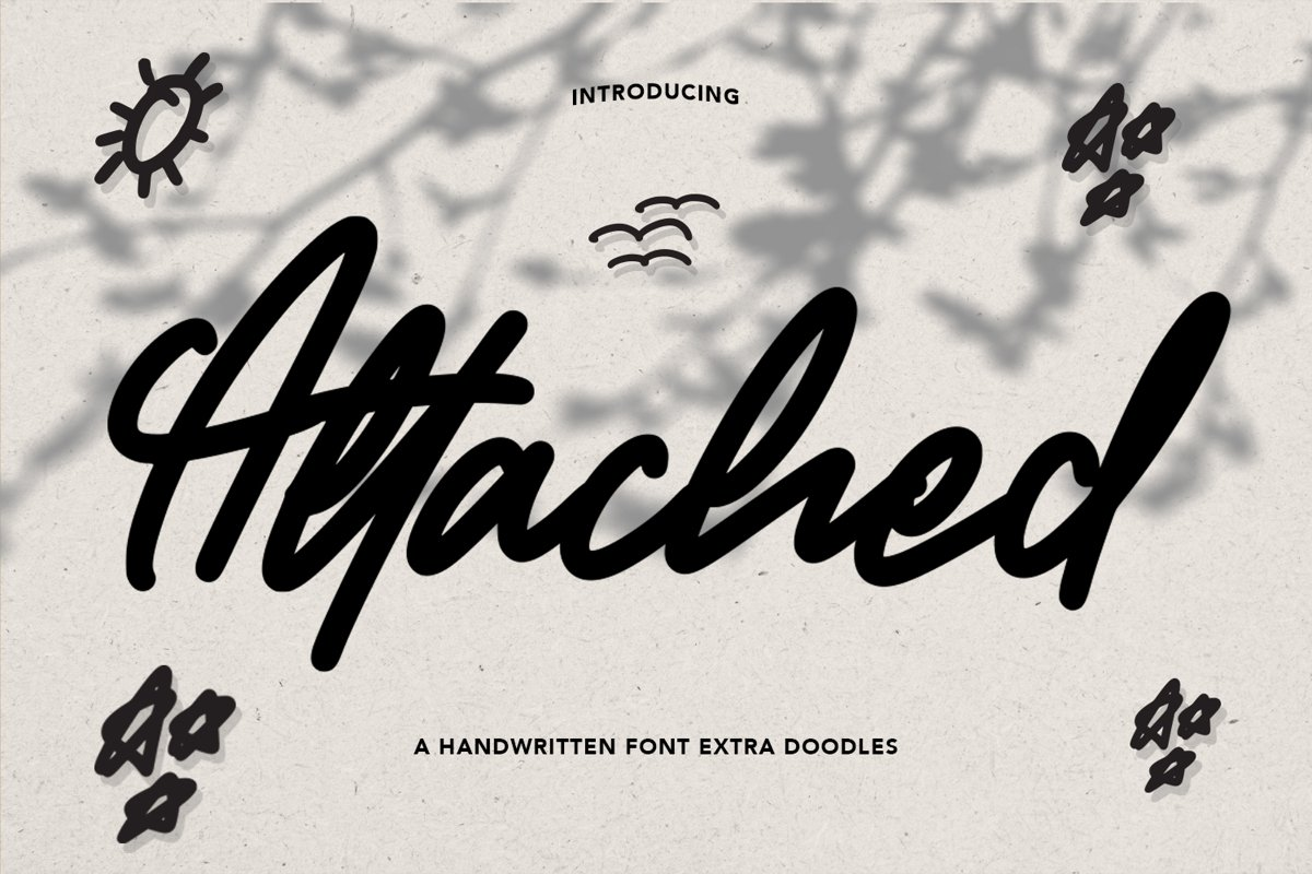 Attacher - Handwritten Font example image 1