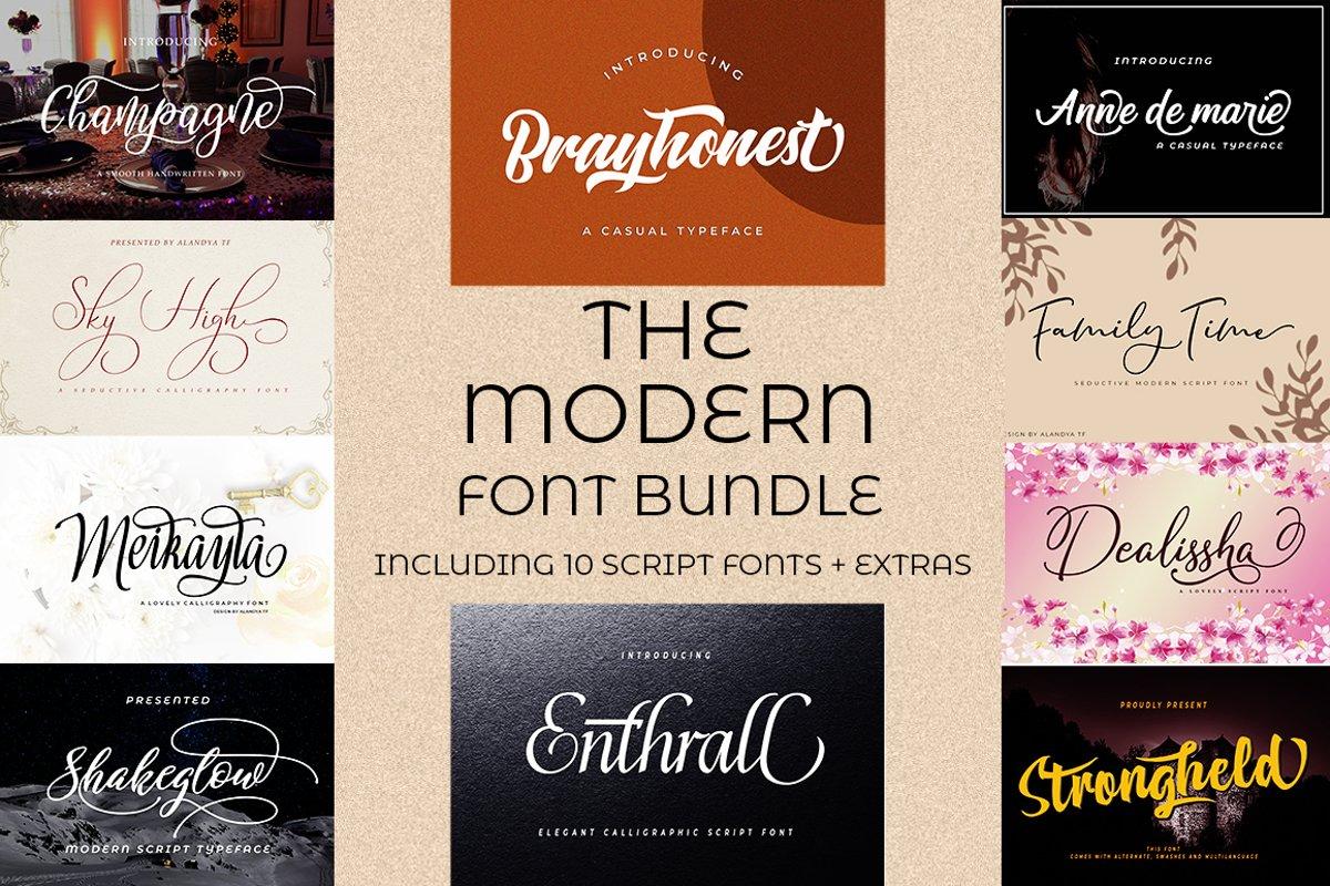 The Modern Font Bundle example image 1