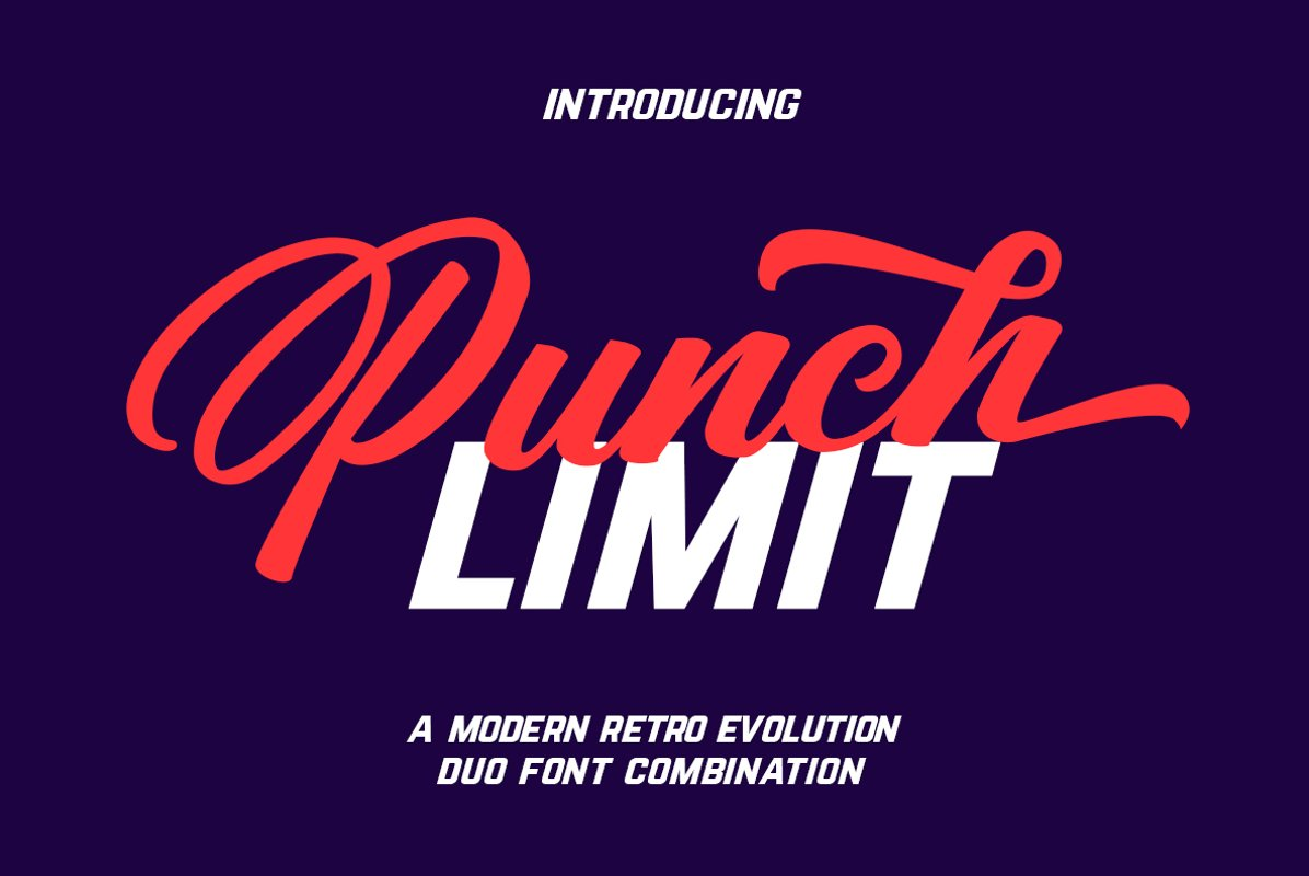 Punch Limit Font Combination example image 1