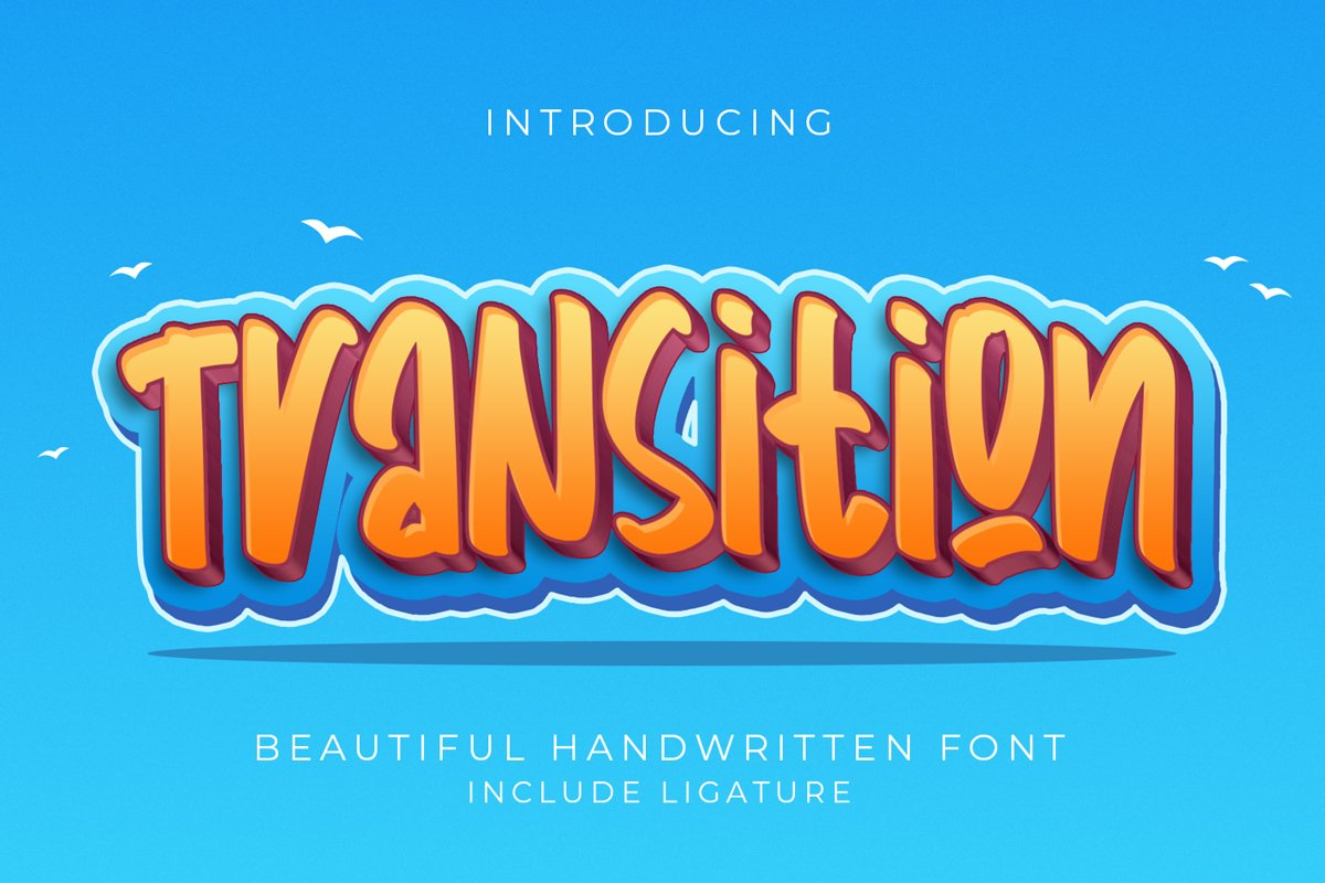 Transition - Handwritten Fonts example image 1