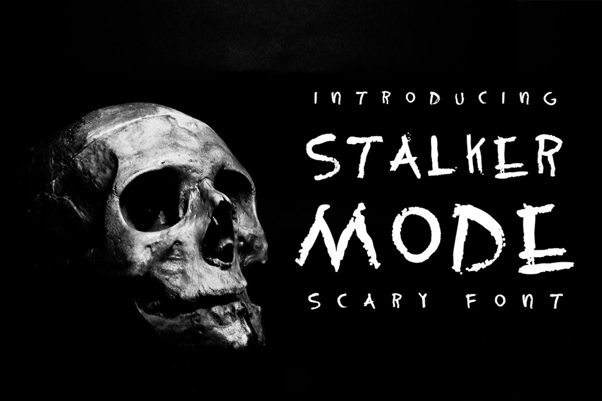Stalker mode - Scary font example image 1