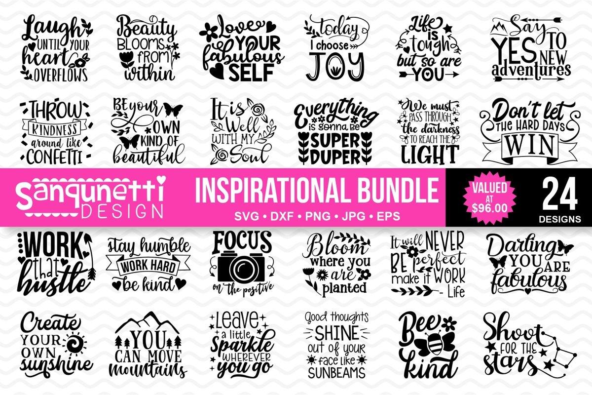 Inspirational and Motivational SVG bundle example image 1
