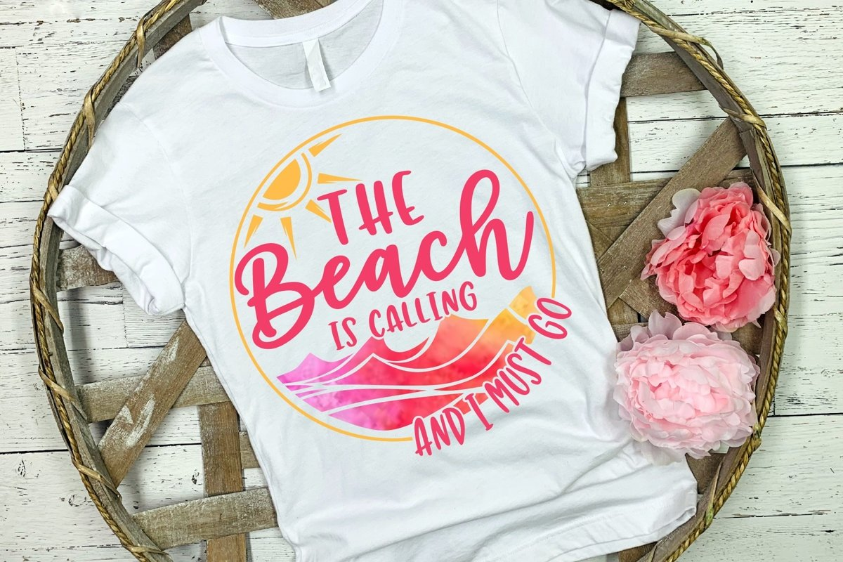 The Beach Is Calling and I Must Go SVG DXF PNG example image 1