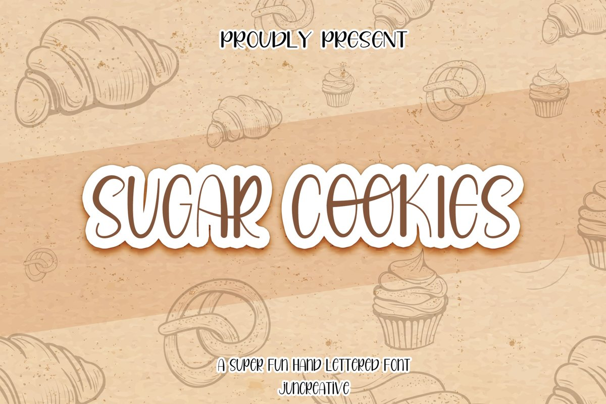 Sugar Cookies A Handlettered Font example image 1