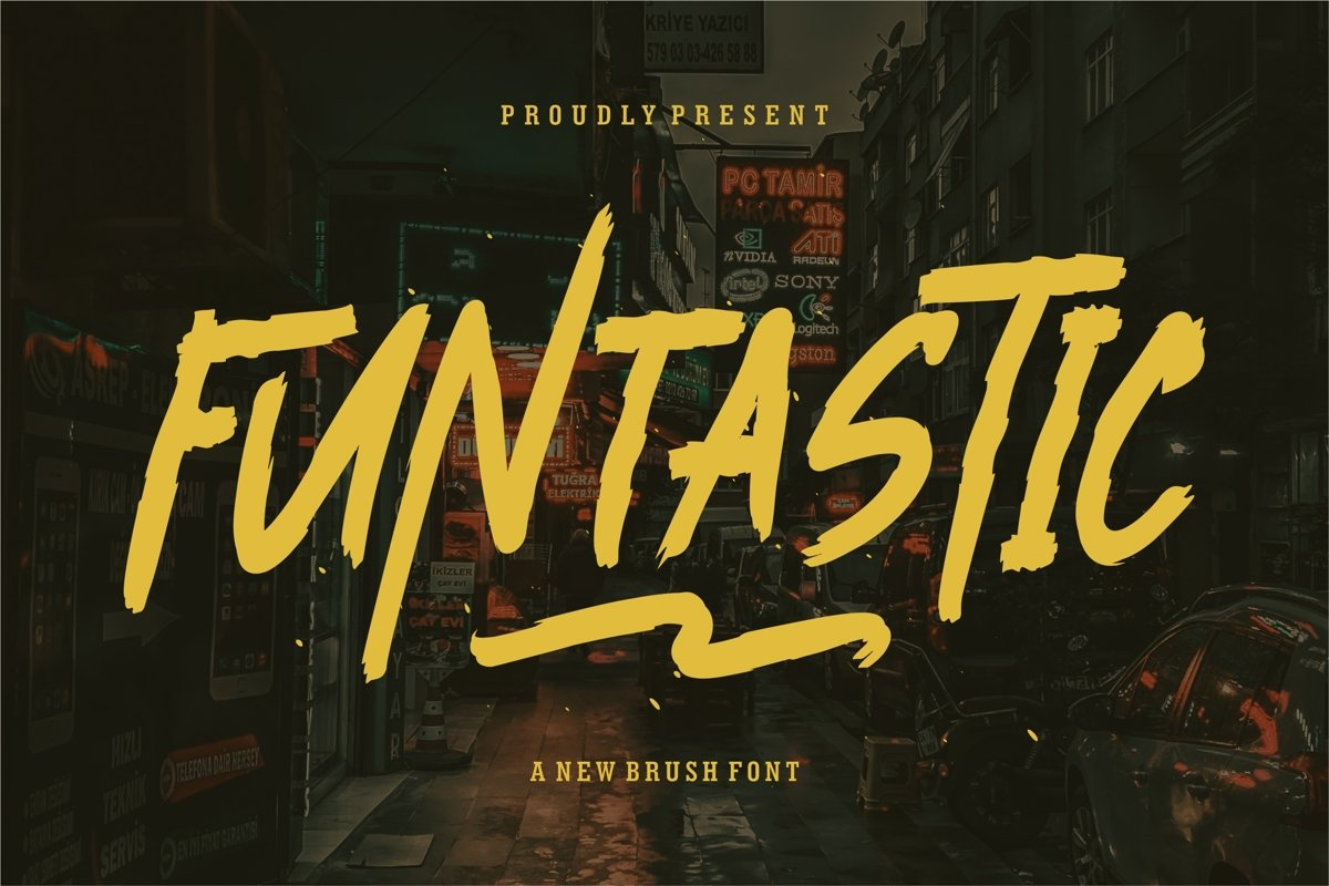 Funtastic - A New Brush Font example image 1