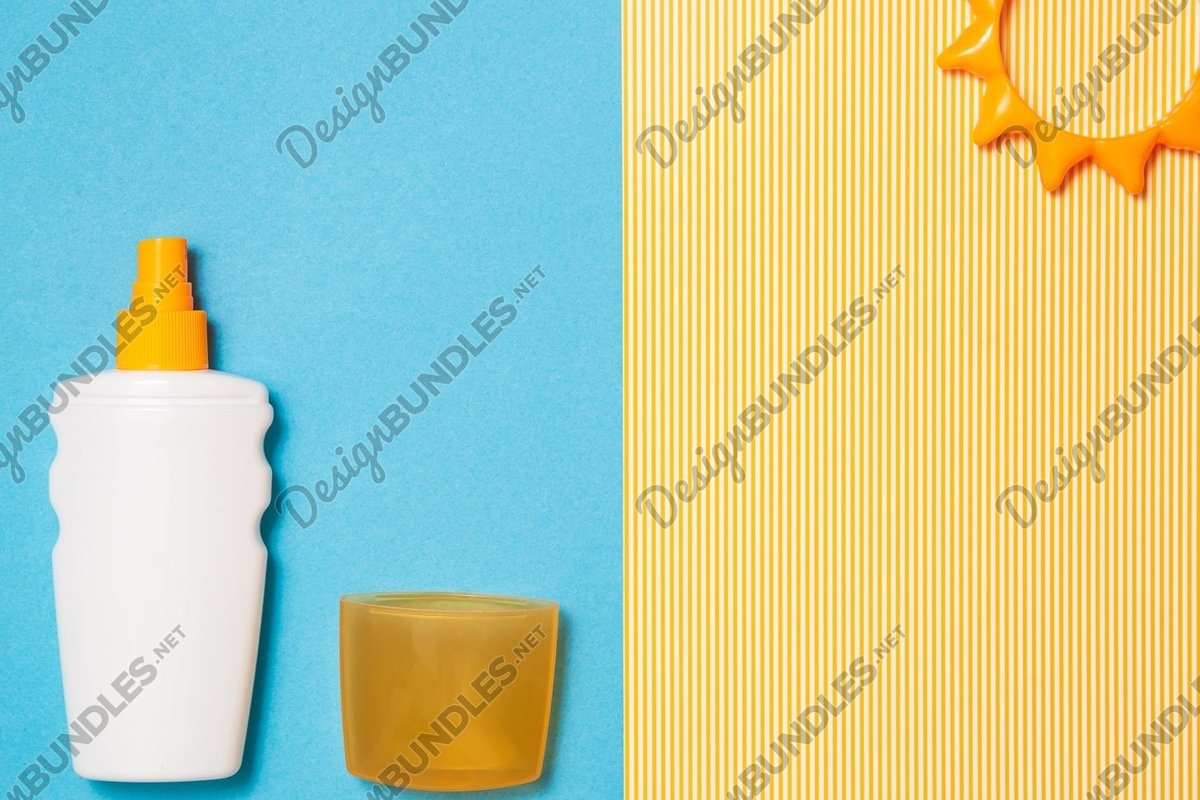 Photo of a Spf lotion, uv summer skin care, protect example image 1