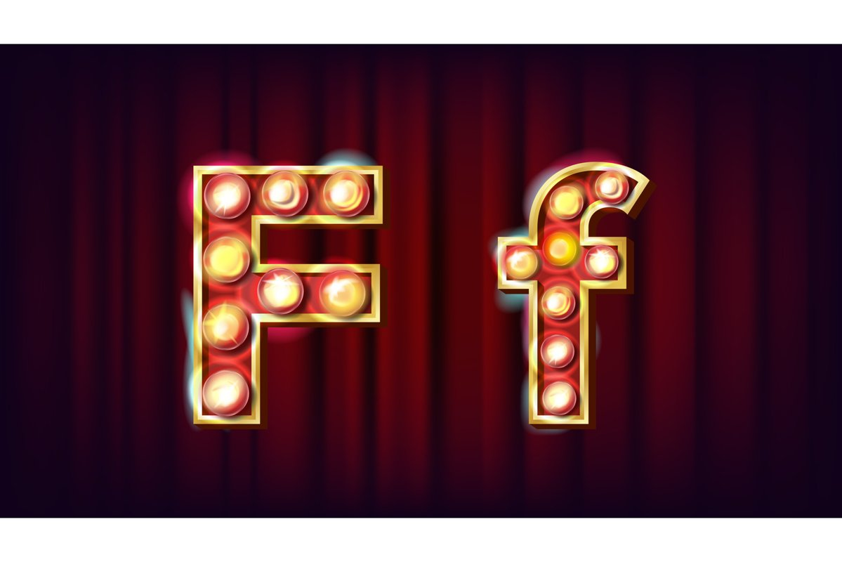 F Letter Vector. Capital example image 1