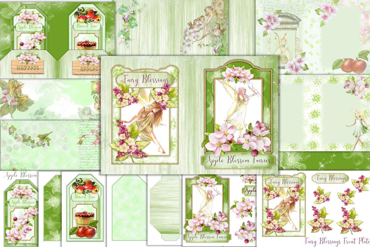 Printable Apple Blossom Fairy Journaling Kit, Free Ephemera example image 1