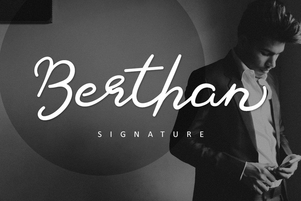 Berthan Signature example image 1