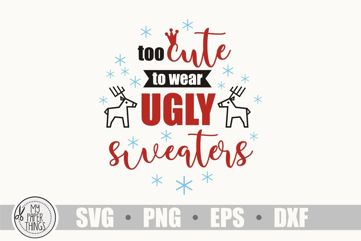 Baby Christmas svg, Ugly Sweaters svg example image 1