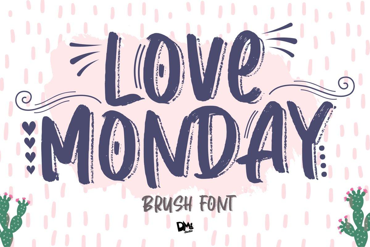 Love Monday - Brush Font example image 1