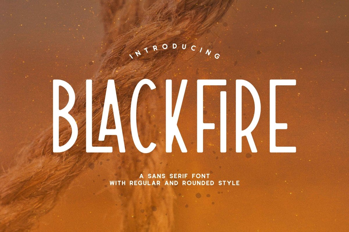 Blackfire - Sans Serif Font example image 1