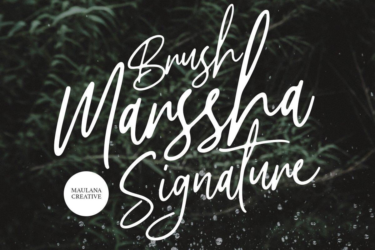 Marssha Brush Signature example image 1