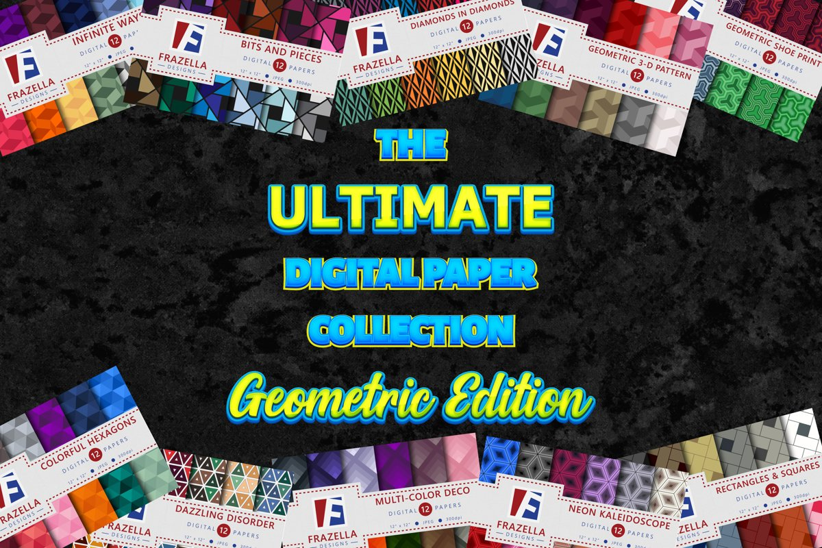 The ULTIMATE Digital Paper Collection Geometric Edition example image 1