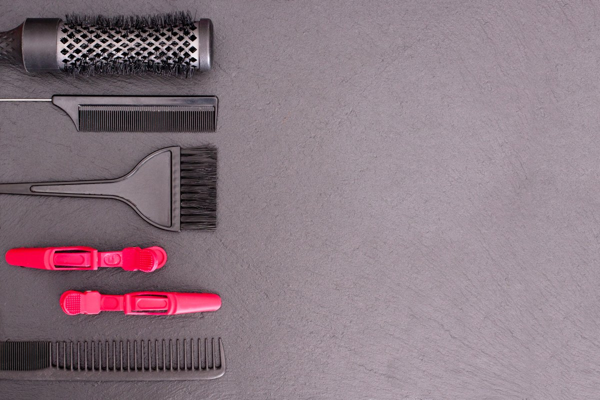 Salon Hairdresser Accessories, Comb, application brush example image 1