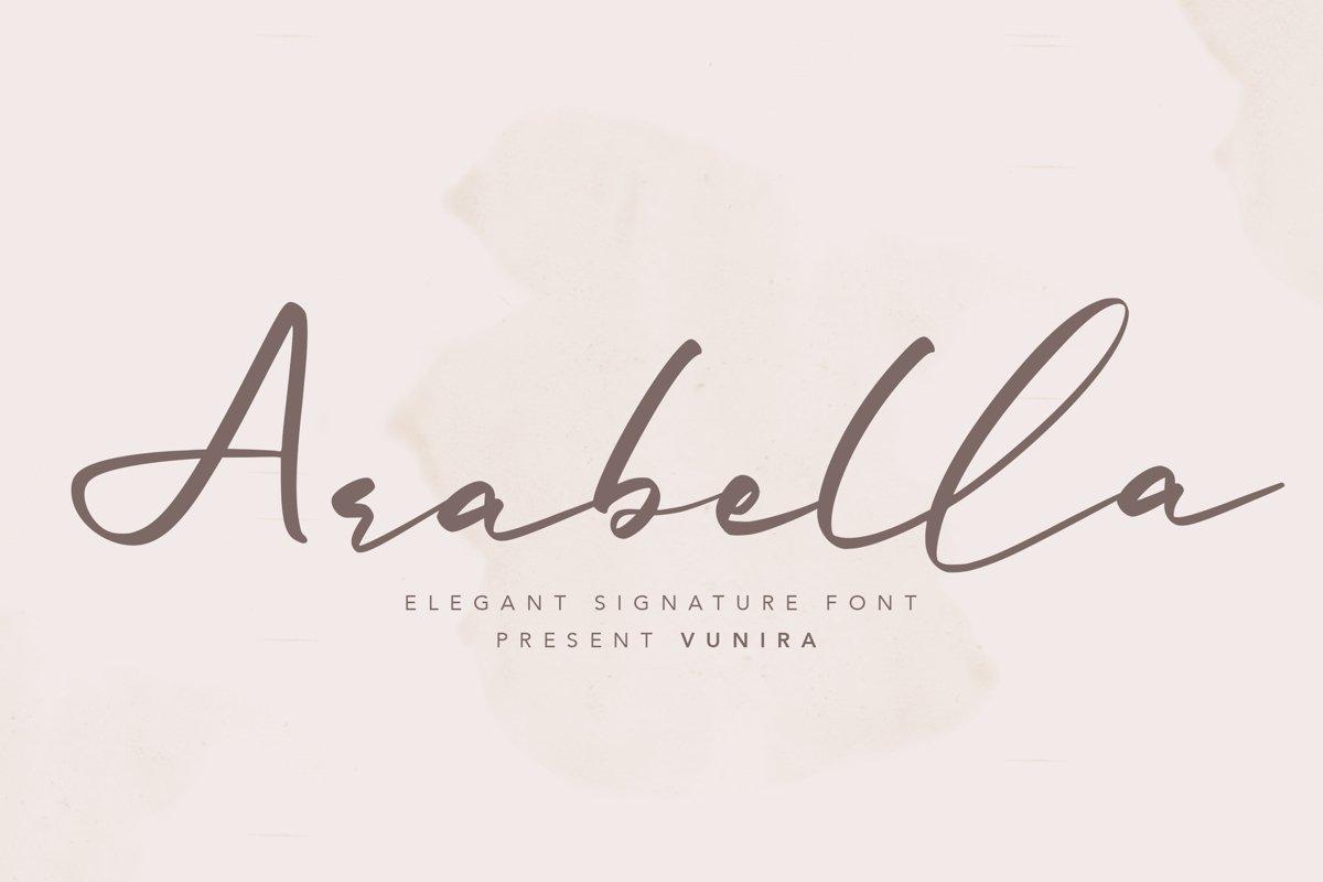 Arabella   Elegant Signature Font example image 1