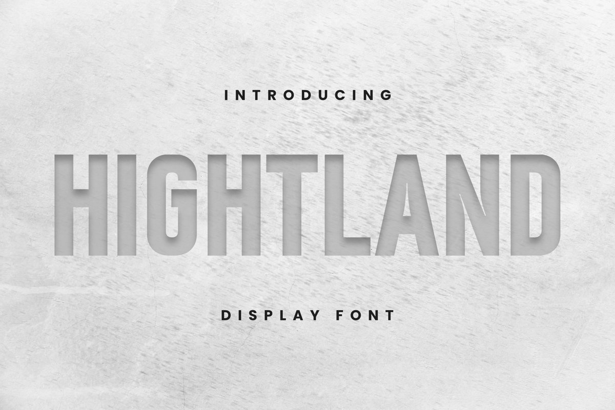 Hight Land Font example image 1