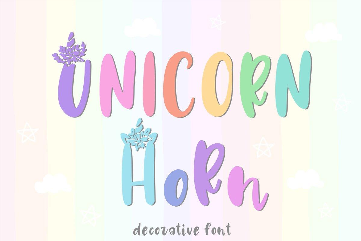 Unicorn Horn Font example image 1