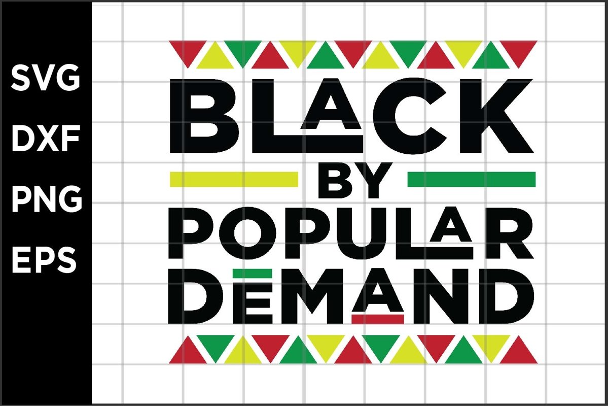 Black by Popular Demand SVG example image 1
