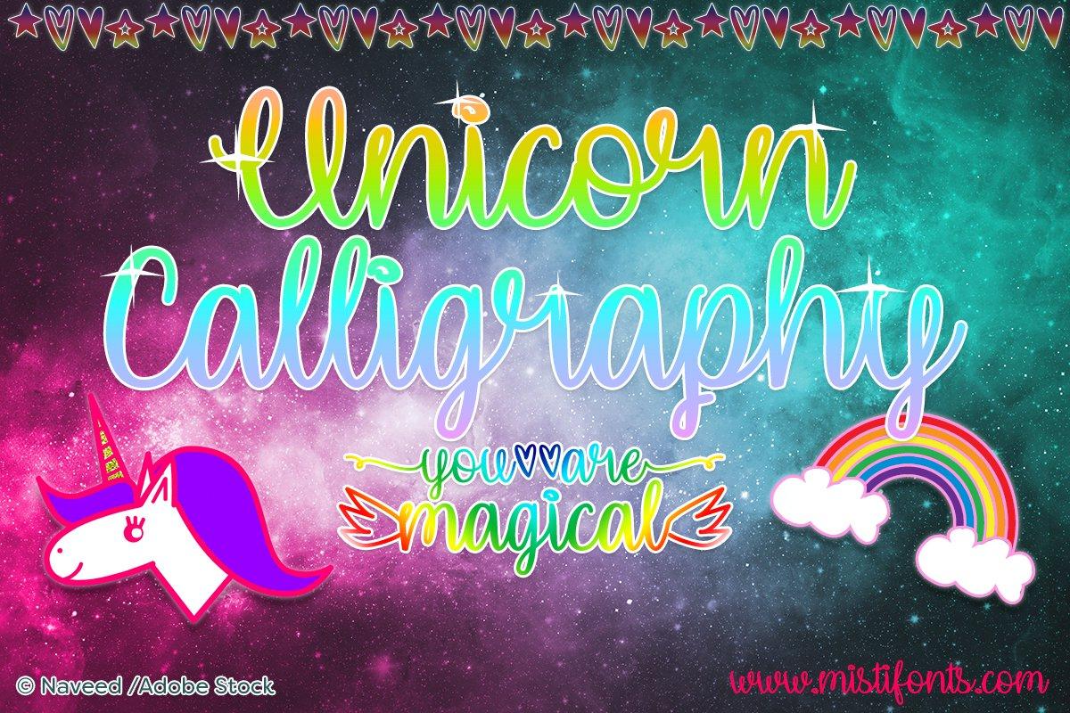 Unicorn Calligraphy example image 1