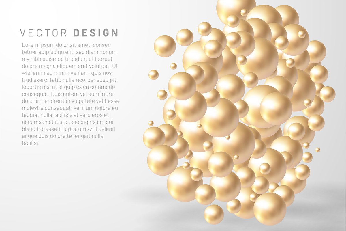 Vector illustration of overlapping abstract balls or bubbles example image 1