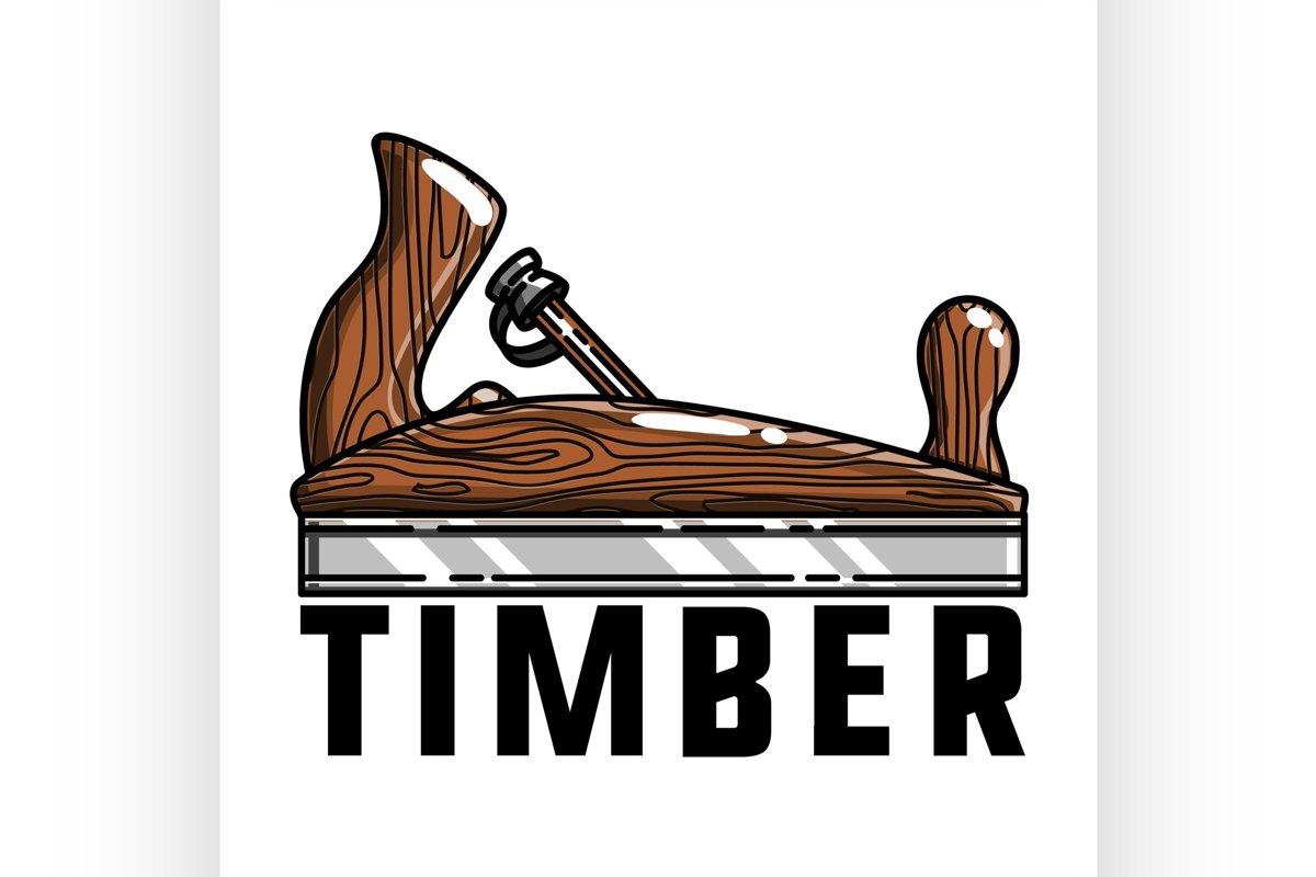 Color vintage timber emblem example image 1