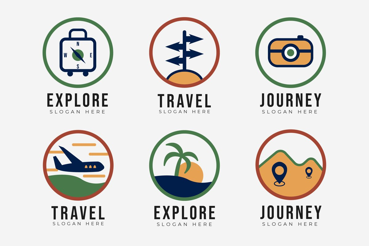 Travel Logo Template Collection example image 1