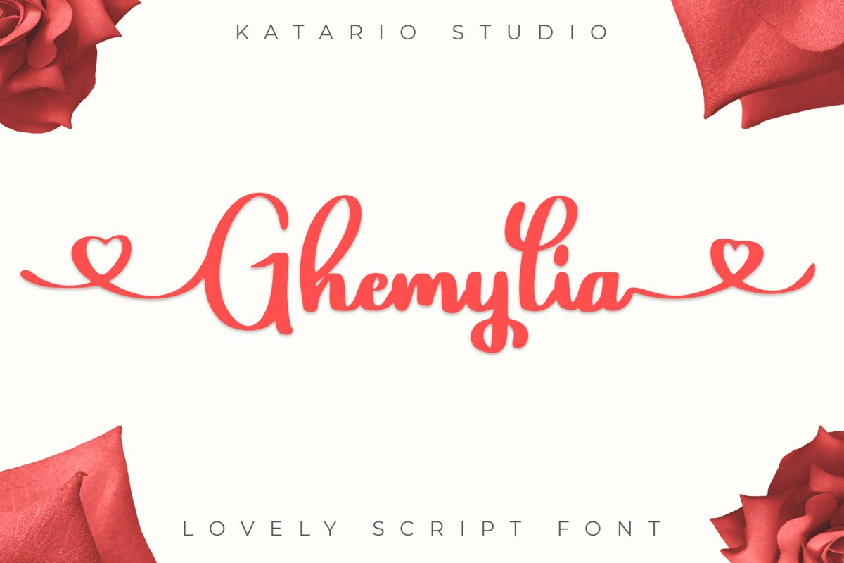 Ghemylia - Lovely Heart Font example image 1