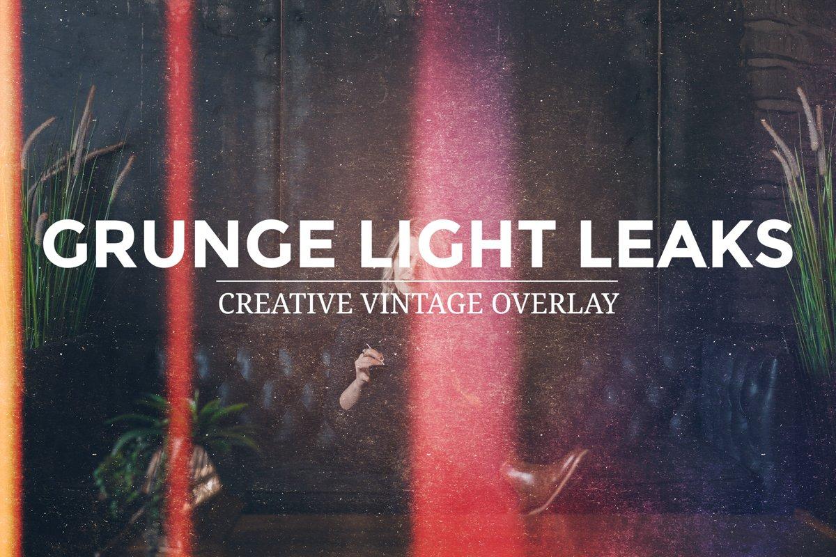 Grunge Light Leaks - Creative Vintage Overlays example image 1