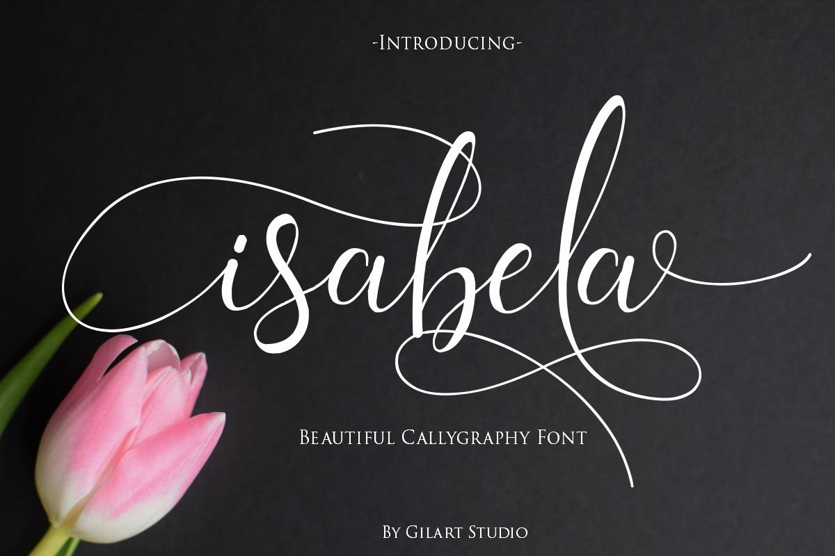 isabela | A Beautiful Callygraphy Font example image 1