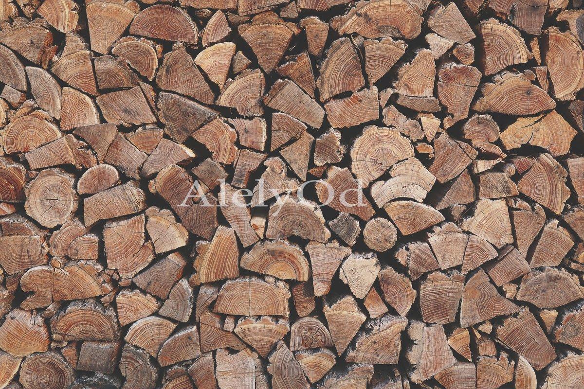 Wooden logs, wooden backg example image 1