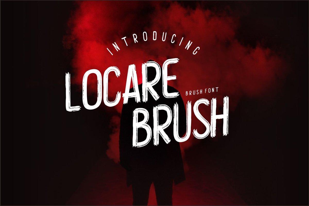Locare Brush Font example image 1