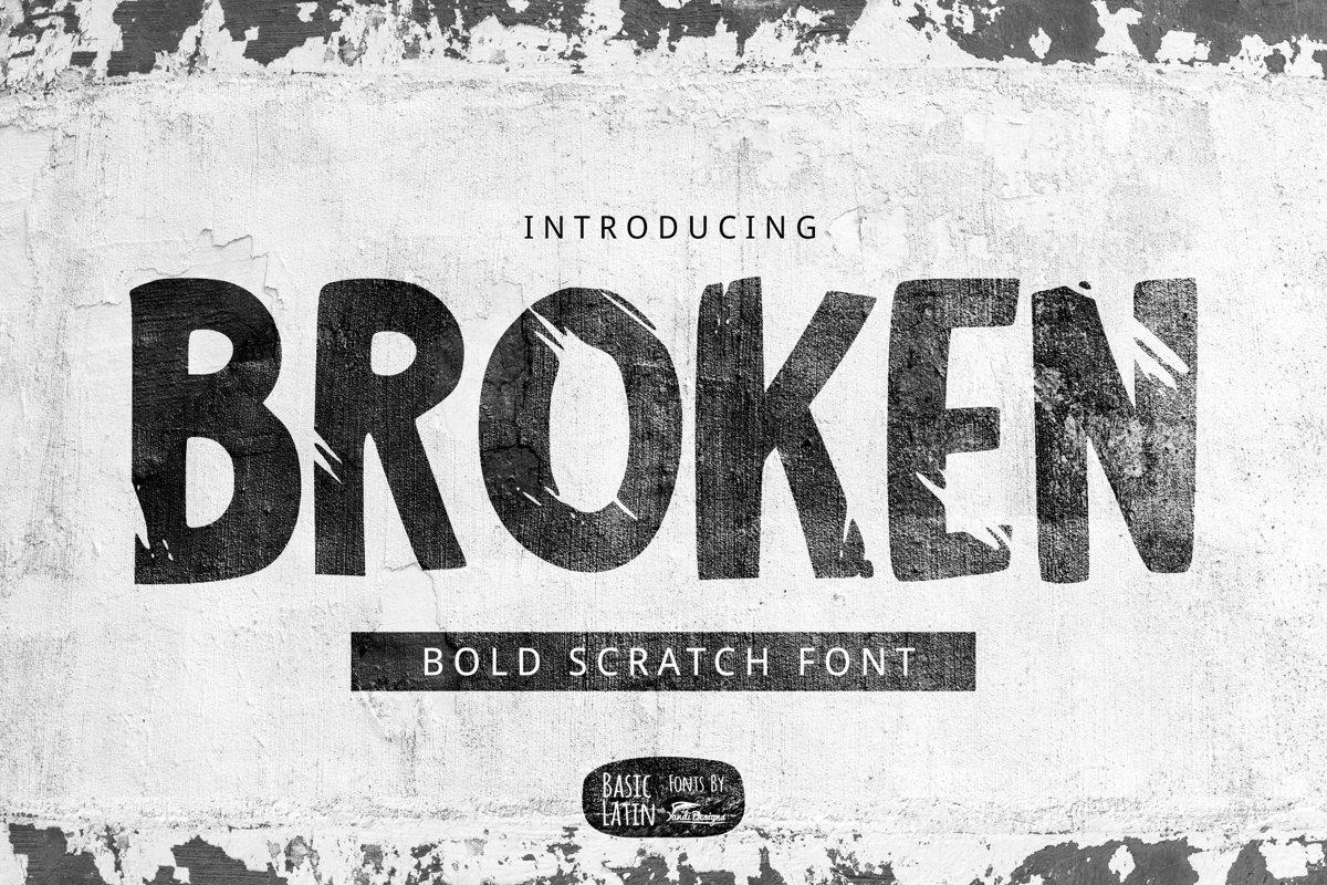 Broken Font example image 1