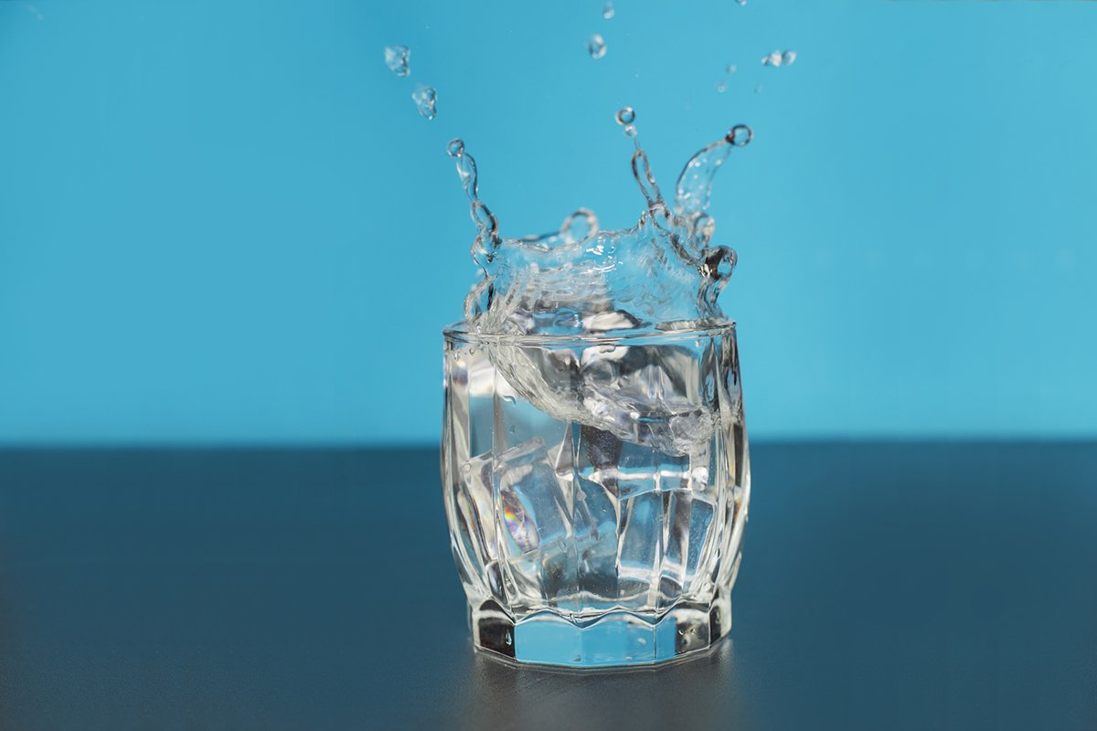 clear water in a glass splash splashingut example image 1