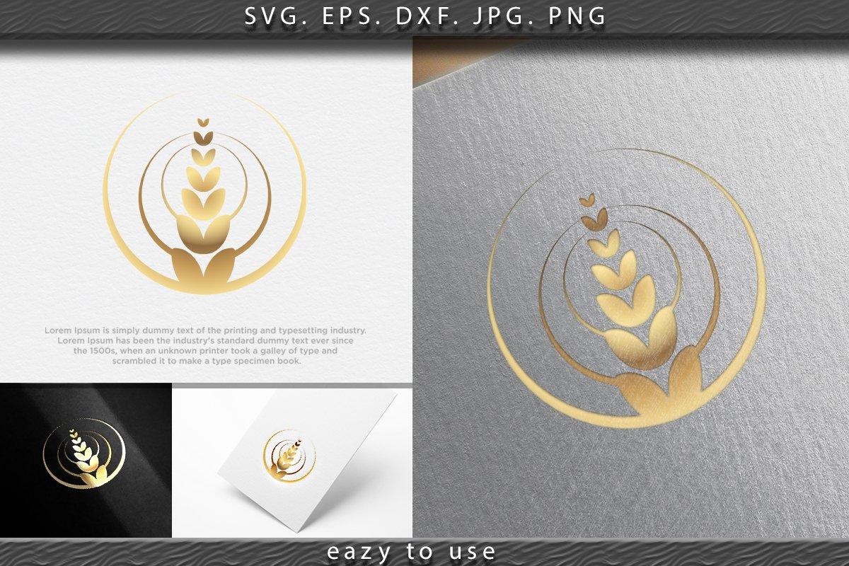 Wheat rice agriculture logo Ideas. Inspiration logo design. example image 1