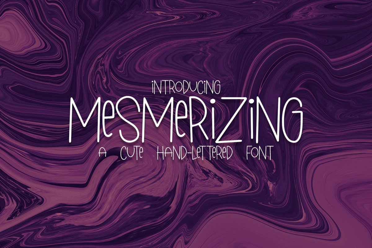 Mesmerizing - A Cute Hand-Lettered Font example image 1