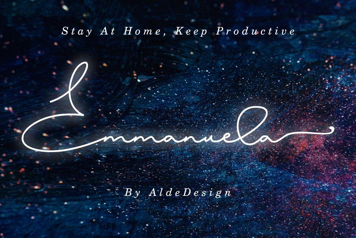 Emmanuella Signature Font example image 1