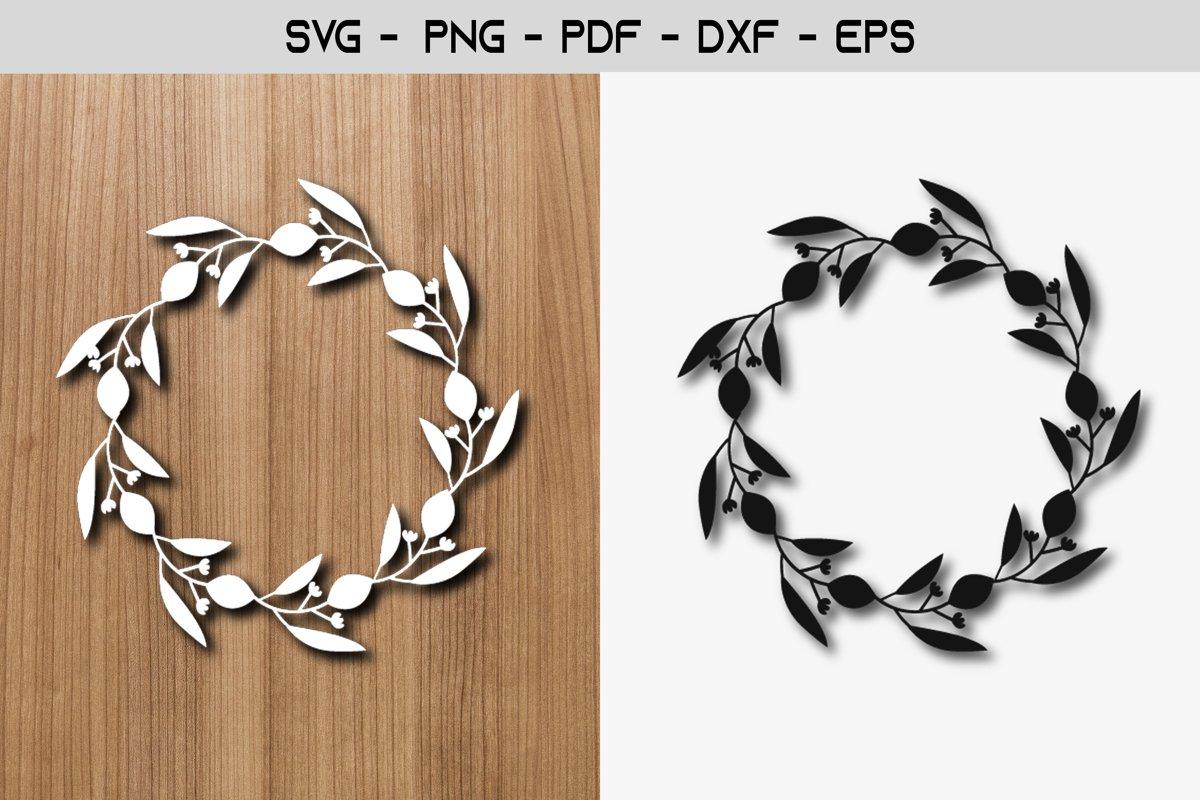 Lemon Flower Frame Paper Template SVG Design example image 1