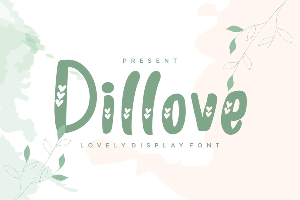 Dillove - Crafted Display Font example image 1