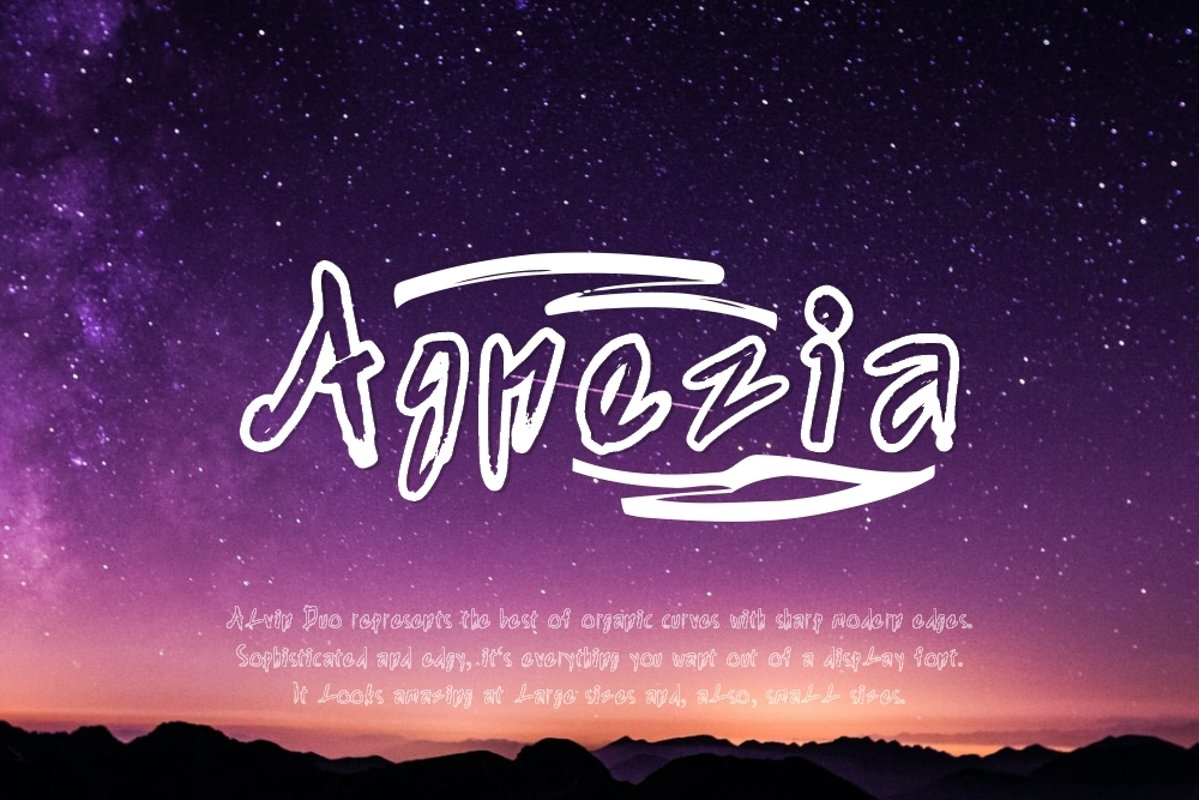 Agnezia - 5 Font styles and 150 Swashes example image 1